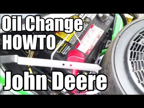 Quick Oil Change HOWTO - John Deere D-Series Lawn Mower