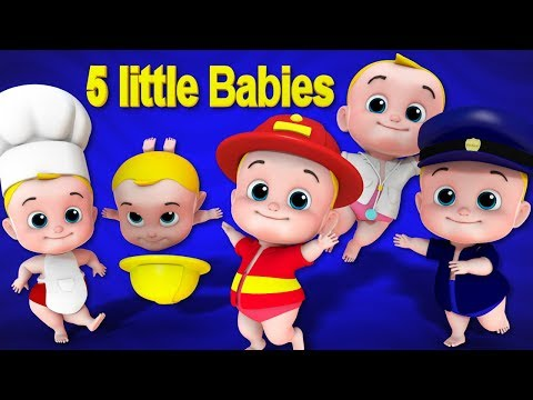 Five Little Babies | Nursery Rhymes Songs For Kids | Children Rhyme By Junior Squad