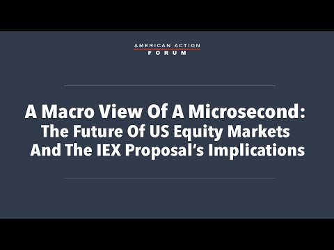 A Macro View of a Microsecond: The Future of US Equity Markets and the IEX Proposal's Implications
