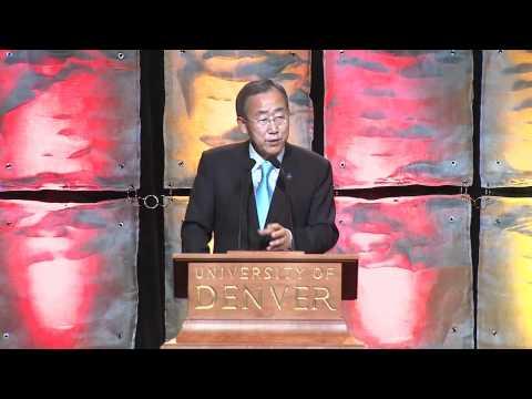 Ban Ki-moon Speaks at the Korbel Dinner