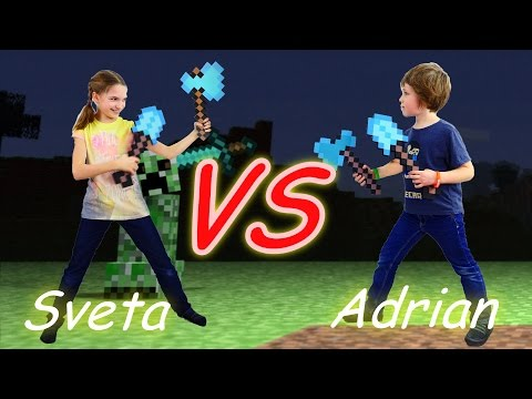 Майнкрафт битва за пиццу. Лучшая подружка Света и Адриан.