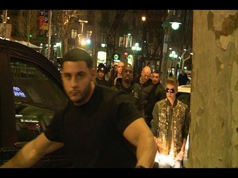 Los guardaespaldas de Bieber nos impiden grabar