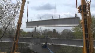 Bridge Construction - Beam placement on the Hokey / North Catasauqua Bridge