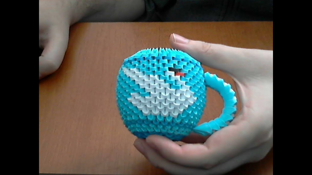 How to make 3d origami cup of tea (model 1 swan) - YouTube - photo#47