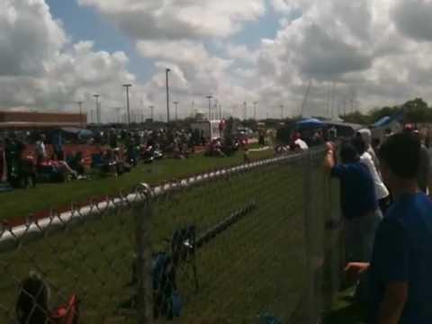 X-Man Vaulting 15 feet setting. A New Brazosport High School Pole Vaulting record