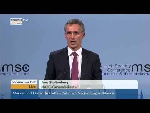 Münchner Sicherheitskonferenz: Reden von Ischinger, Von der Leyen & Stoltenberg am 06.02.2015