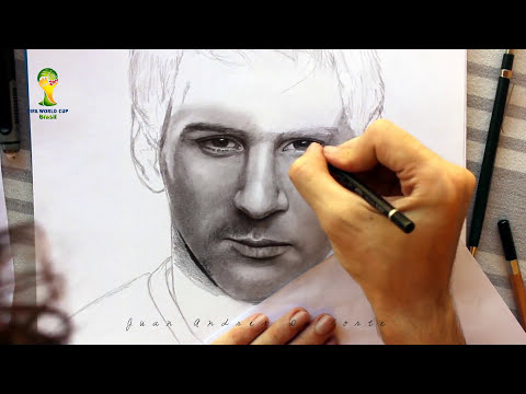 Drawing Lionel Messi By Juan Andres