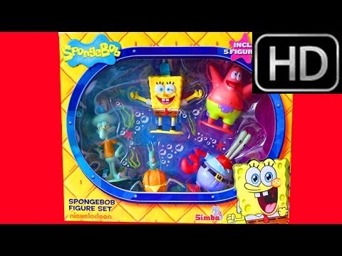 Spongebob Squarepants Figure Set Unboxing - Patrick Star, Squidward Tentacles, Sandy Cheeks Krabs video