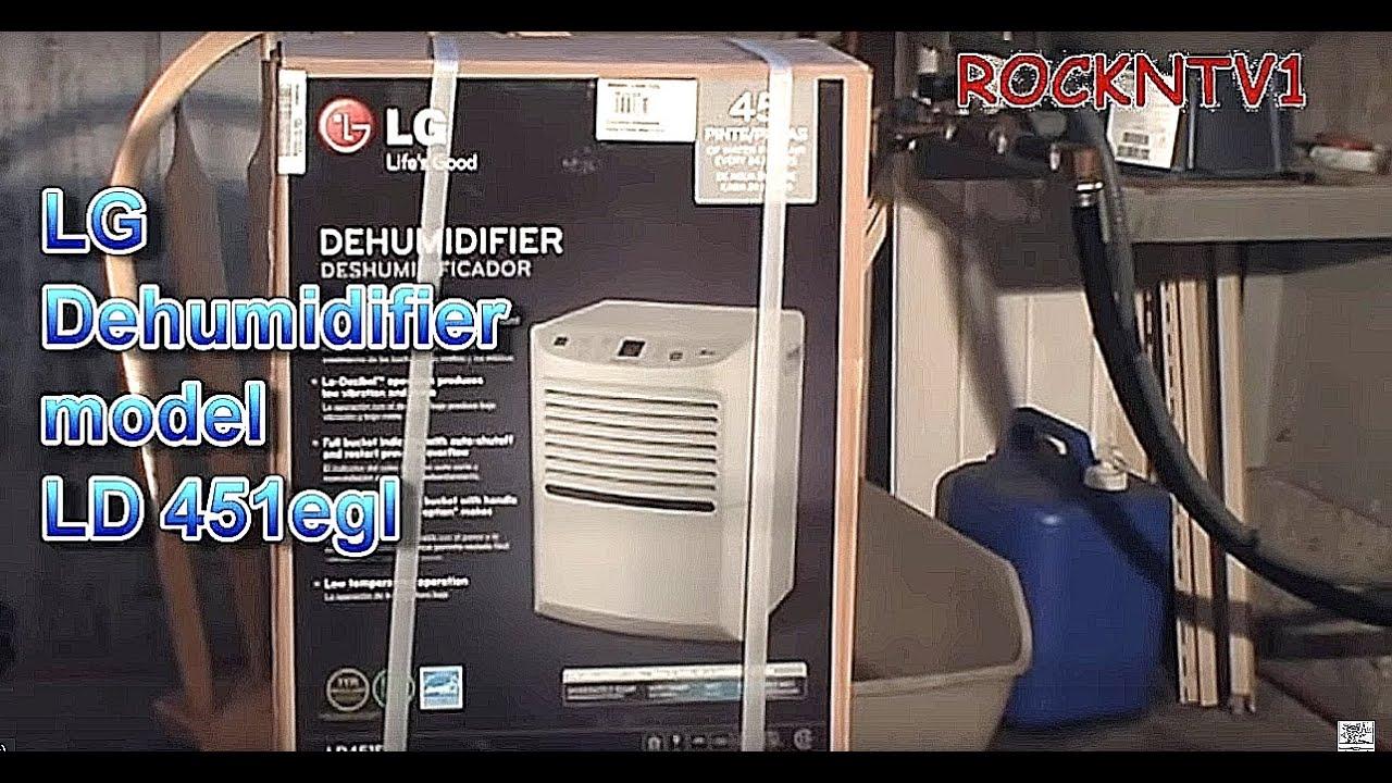 wet basement cure dehumidifier lg ld451egl youtube