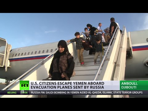 US citizens escape Yemen bombing aboard planes sent by Russia