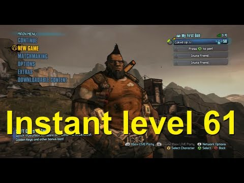 Borderlands 2 INSTANT level 61 glitch - Any character!!!