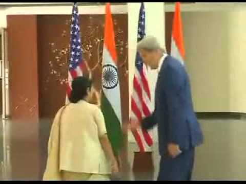 US Secretary of John Kerry meets Sushma Swaraj