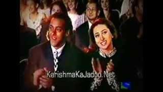 Salman Khan & Karisma Kapoor Cute Jodi (Old video at Filmfare Award)