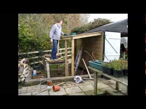 time lapse lean to shed a time lapse video of a lean to exntesion