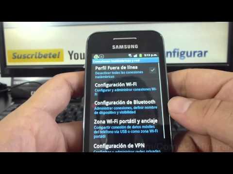 Como Activar Y Desactivar 3g samsung Galaxy ace S5830 español Full HD