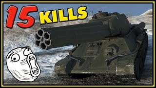 T-34-85M - 15 KILLS - World of Tanks Gameplay