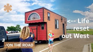 Starting over & towing West an off-grid, wood clad tiny home