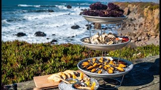 Two Chefs Create EPIC SEAFOOD TOWER Using ONLY FORAGED INGREDIENTS | Coastal Foraging