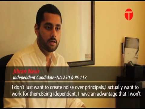 Jibran Nasir: Independent candidate determined to give veteran politicians a tough time
