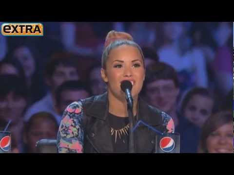 Demi Lovato Spits Mints Into Simon Cowell's Hand -  'The X Factor USA'