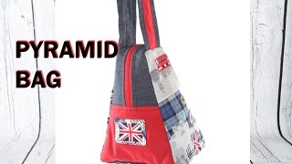 Pyramid style Hand bag - Part 1 / DIY Bag Vol 16A