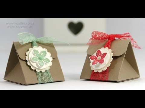 Tip Top Taupe Triangular Treat Box Tutorial