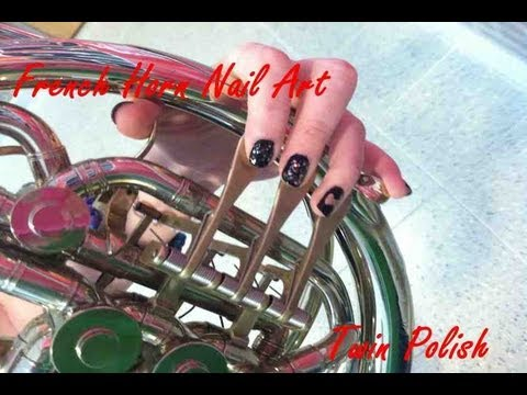 French Horn Nail Art Tutorial