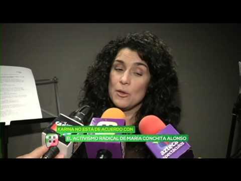 Karina no está de acuerdo con el activismo de María Conchita Alonso