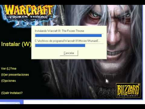 Instalar Warcraft III The Frozen Throne