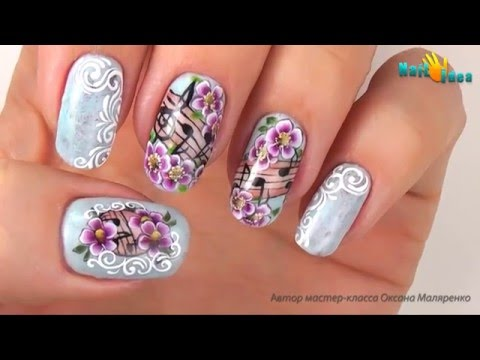 видео урок рисунок роза а ногтях производители