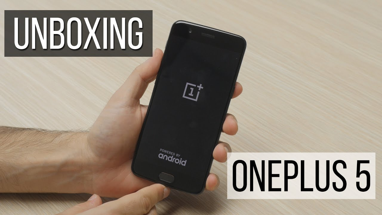 The OnePlus 5 has finally arrived in our office and we are eager to learn all about it first hand.First things first, though, let's see what's in the box and take a quick first look at the phone itself.What we got is a white box with the number 5 etched on the front and the OnePlus logo ..