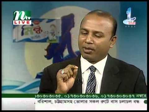 Lutfor Rahman Joy at NTV Live Talk-Show on Bengali Language, Literature & Heritage