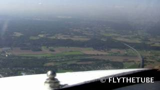 VOR Approach RWY 23R at Düsseldorf ( DUS / EDDL ) Airport, HD Cockpit View