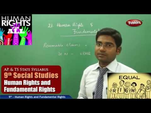 Human Rights and Fundamental Rights- Class 9th State Board Syllabus Social Studies