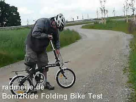 born2ride cheap folding bike bicycle test
