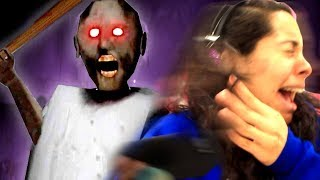 Playing GRANNY for the first time! *SHE FREAKED OUT!* (Mystery Gaming)