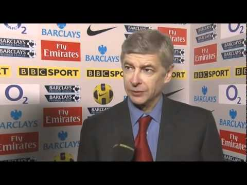 Robin van Persie and Arsene Wenger post-match - Arsenal 3-0 Wigan