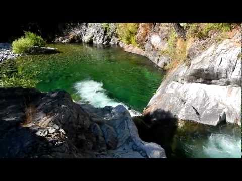Fishing and hiking near Yuba River, California