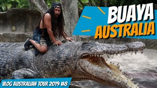 Ngeri Crocodile show di Australia zoo with Steve Irwin's family (uyeee VLOG Australian tour 2019 #8)