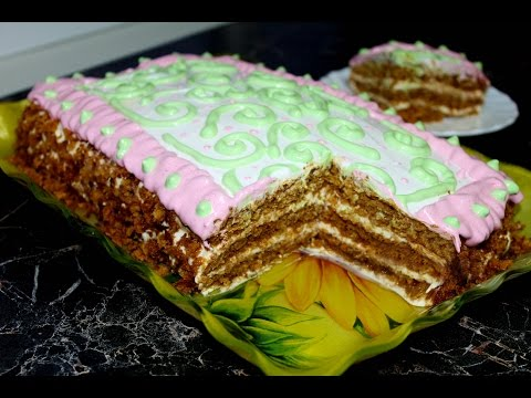 Простой медовик с пышными коржами + простое украшение торта