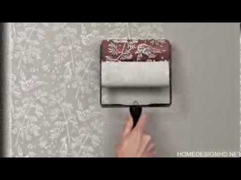 Easily Recreating The Look of a Classic Wallpaper  Patterned Paint Rollers