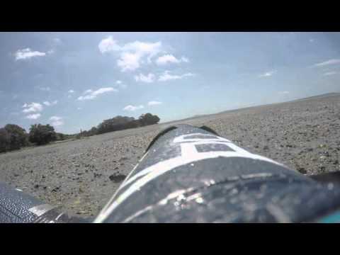 RC F4U Corsair Crash - Lost radio Signal 4K Go Pro Footage