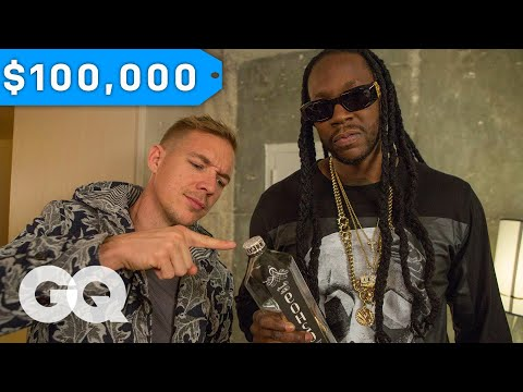 2 Chainz & Diplo Try $100K Bottled Water | Most Expensivest Sh*t | GQ