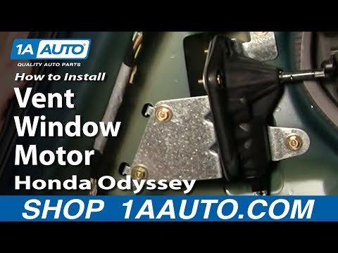 How To Install Replace Rear Vent Window Motor Honda Odyssey 99-04 1AAuto.com