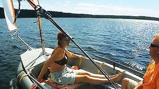 Dinghy Sailing Holidays: Sails on the Lake / Швертбот на озере