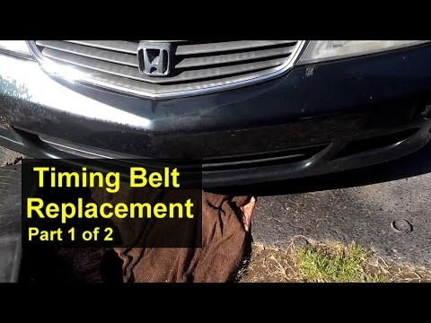 Honda Odyssey Timing Belt Replacement Part 1 of 2 - Auto Repair Series