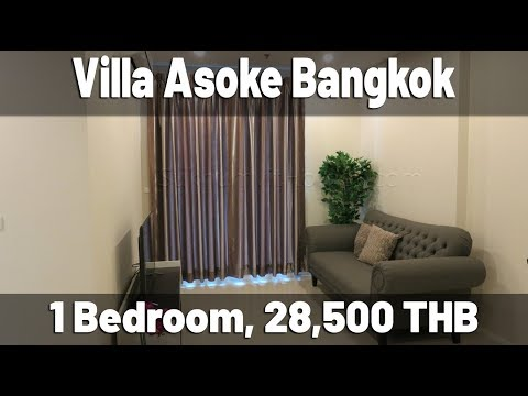 Villa Asoke one bedroom for rent Petchaburi MRT station Bangkok 28.500