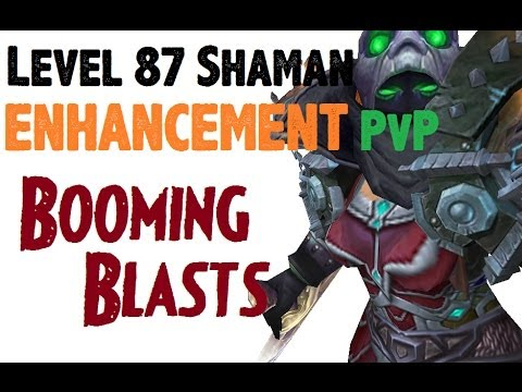 Shaklyn - Level 87 Enhancement Shaman Twink Pvp - Mop Patch 5.4.0 video