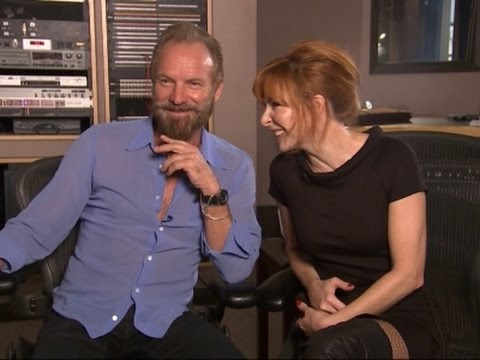 Sting and Mylene Farmer Cozy Up on Stolen Car