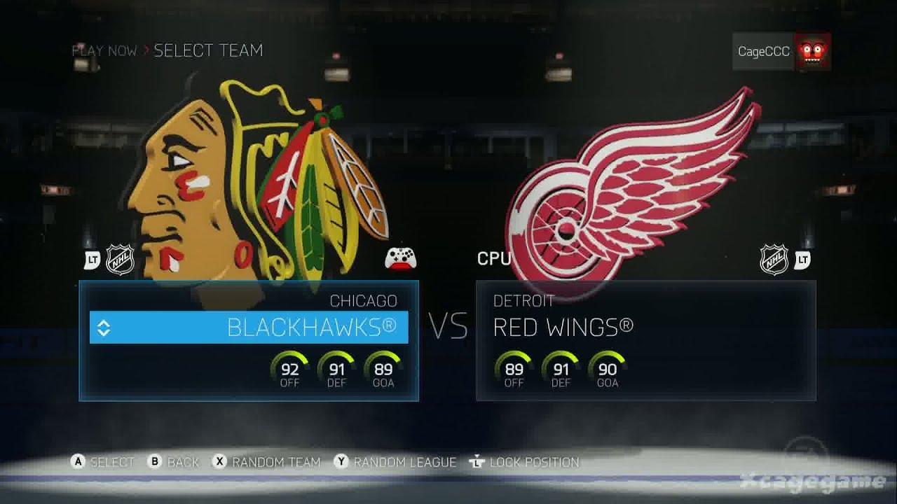 vs Detroit Red Wings